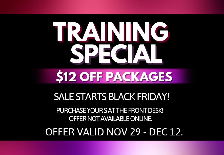 Training Special: Nov 29 – Dec 12